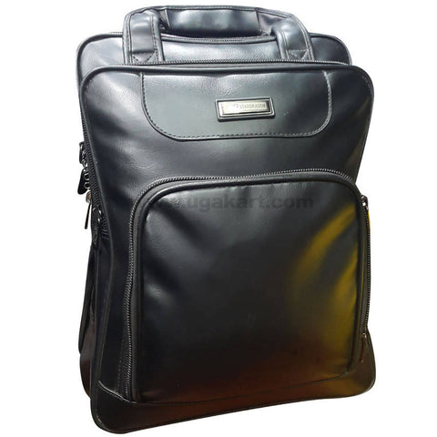 StarDragon Black Leather Laptop Bag (Small)
