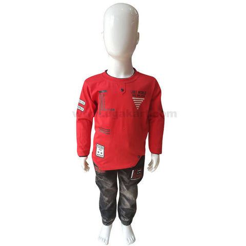 Red Color Dress For Boys Kids 1 to 3 yr