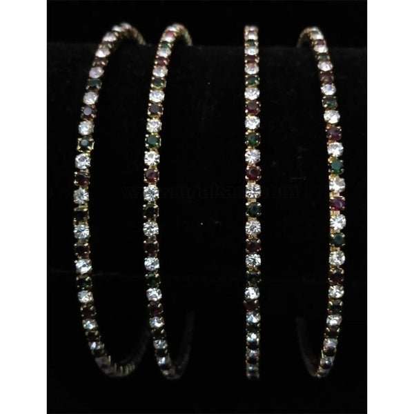Diamond Bangle With Red And Green Diamond size 2.6