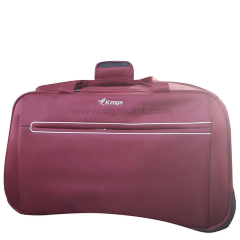 Kzngs Maroon Travel Duffel Bag