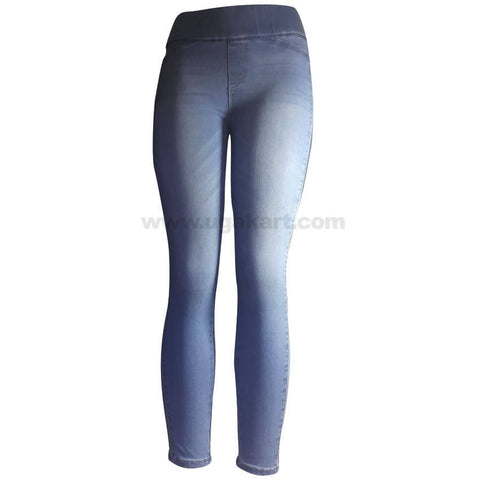 Women's Light Blue Pant with Waist Control