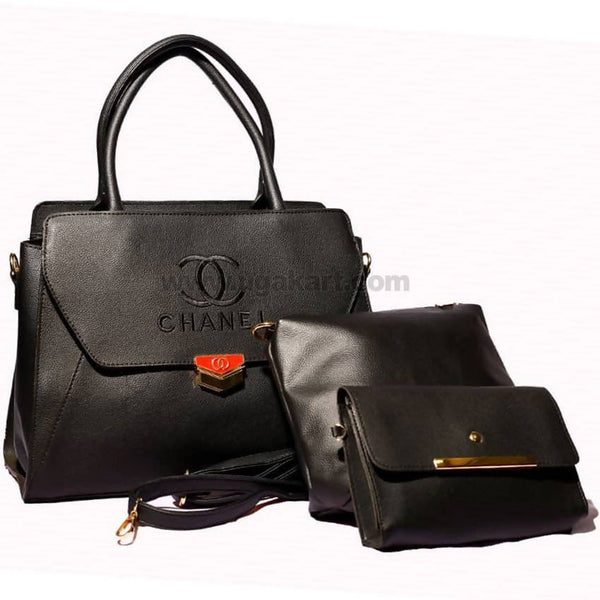 CC Chanel Black 3PCS Hand Bag
