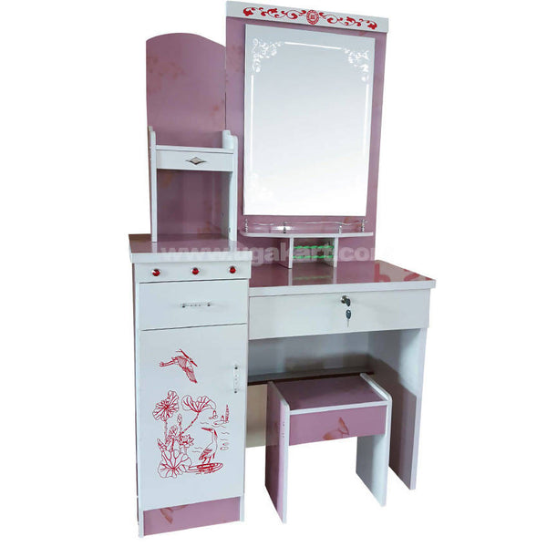Pink and White Dressing Table