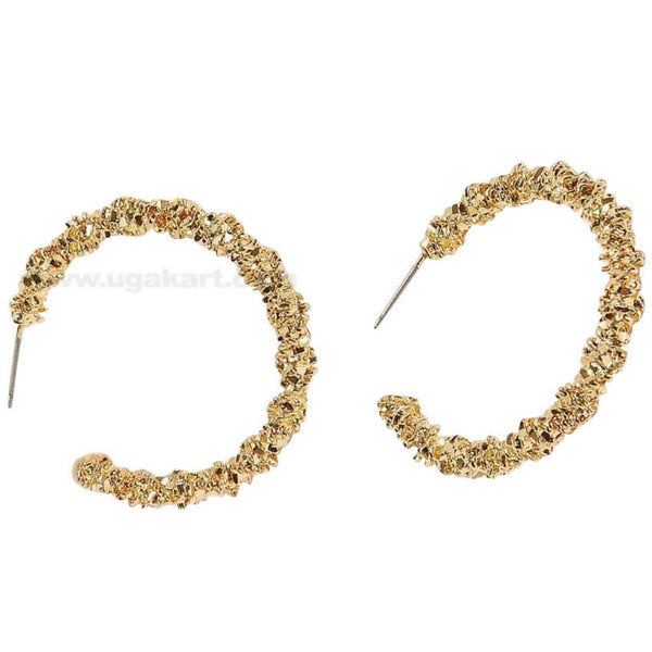 Textured Cuff Hoop Earrings 1pair