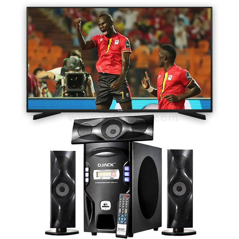 "Smartec 32"" Digital LED TV and Djack-F3 Subwoofer System Combo"
