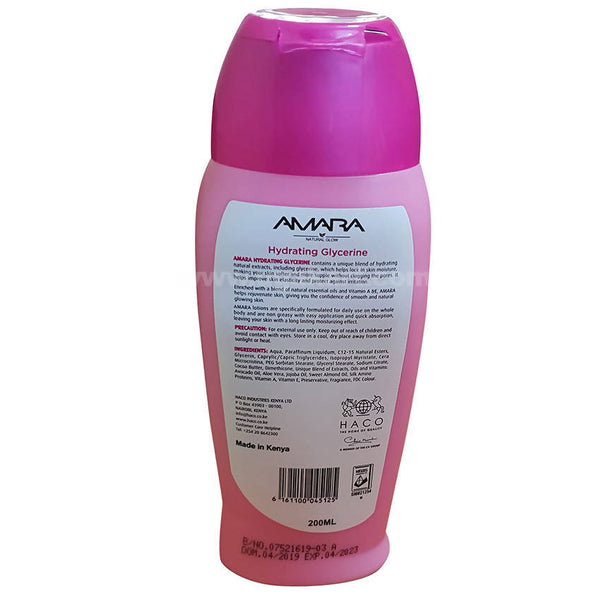 Amara Hydrating Glycerine & Body Lotion 200ml