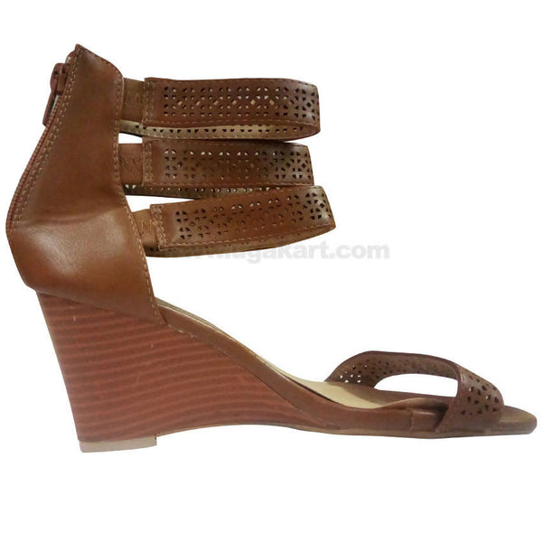Brown Ankle Strap High Heels For Women