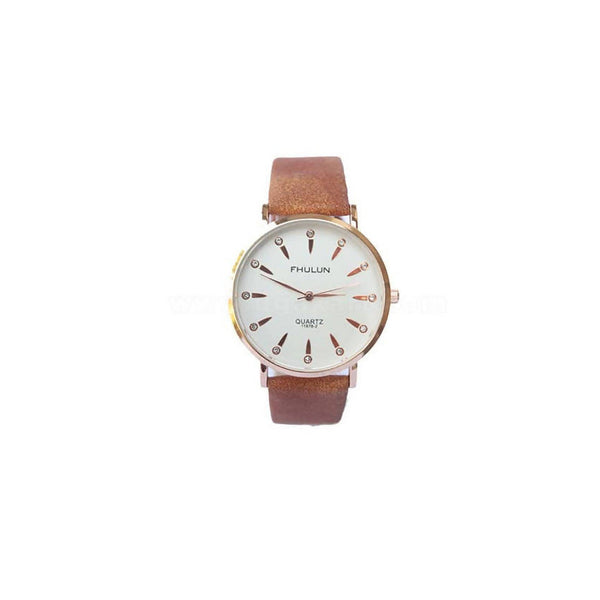 Mens Slim Designer Watch Brown