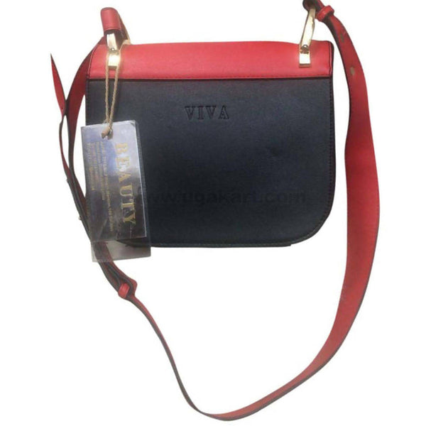 VIVA Red and Black Hand Bag
