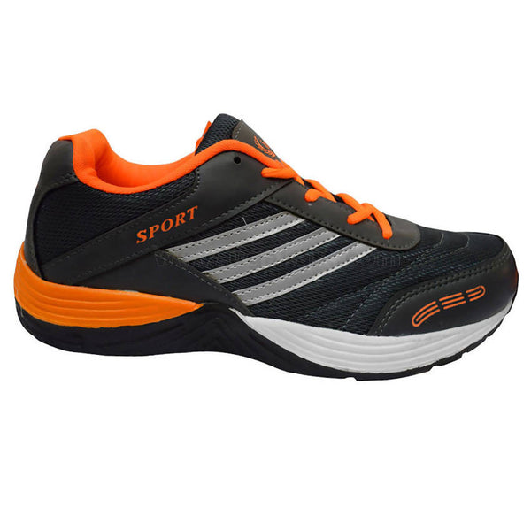 Uni Sports Dark Blue and Orange Shoes For Men