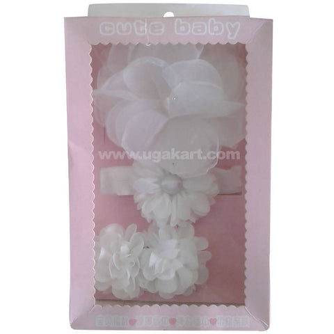 Cute Baby White Hair Clips
