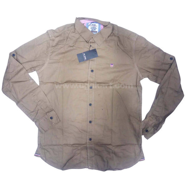 Almond Full Sleeve Regular Fit Shirt For Men