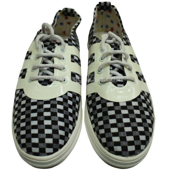 Slip on Shoes Black and White For Women