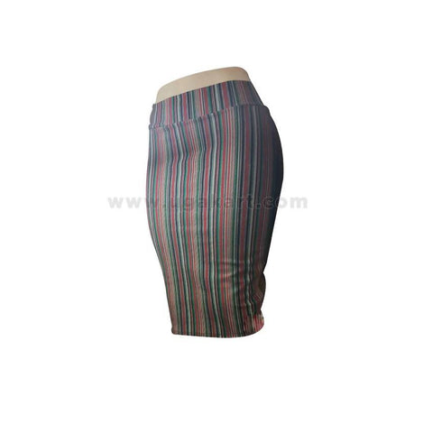 Multi Coloured Line Ladies Skirt