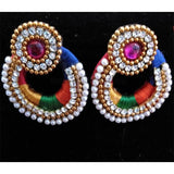 Multi Colour Thread Earrings