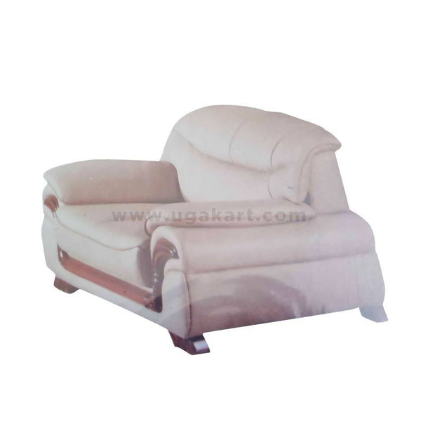 Full Cream Wooden & Leather High Density With Fiber Cushions Sofa-Size (2-2-1)
