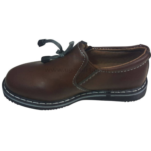 Coffee Brown Classic Cute Shoes For Kids (Size-25 to 36)