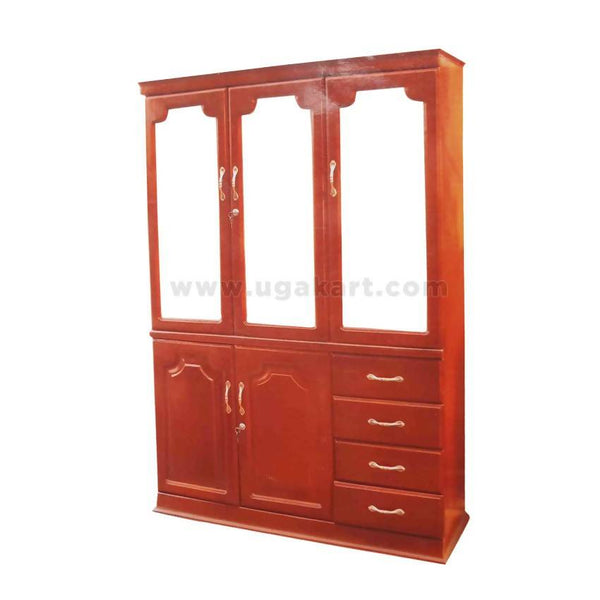 Wooden Cabinet Side Board With 3 Mirror Door 2 In 1-Size 4/6