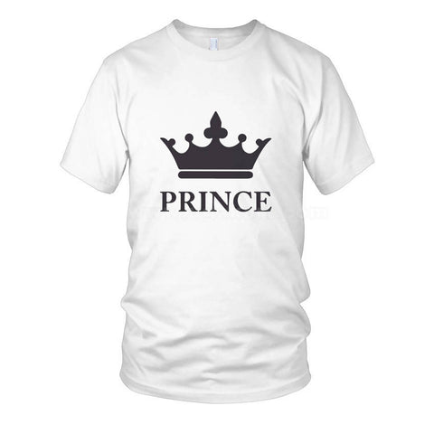 Prince Crown Printed White Men's T-Shirts