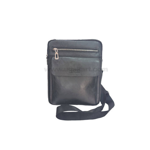 Jeep Buluo Black Unisex Cross Bag
