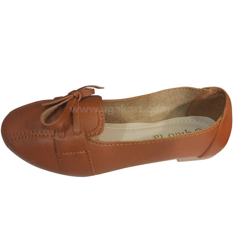 Brown Slip-on-Shoes for Girls(Size-31 to 36)