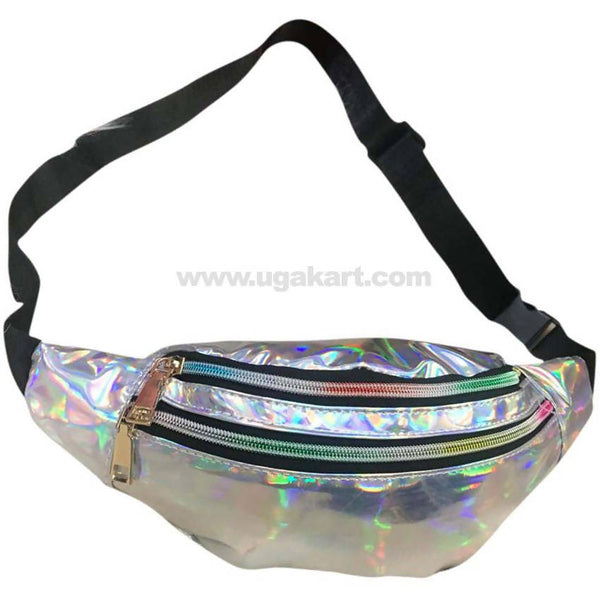 Shiny Sliver Waist Bag