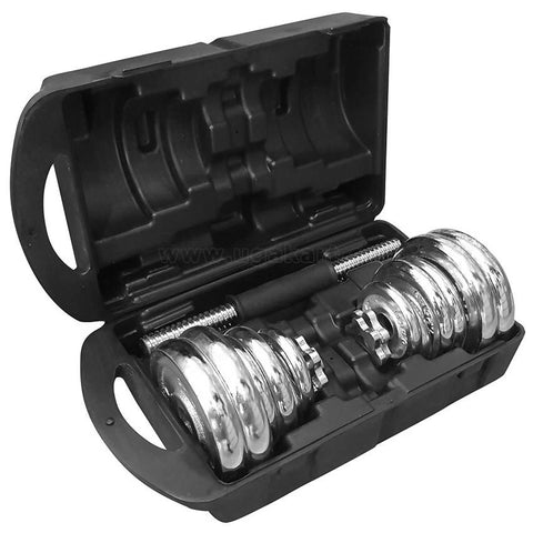 York Fintness 20 KG Chrome Dumbell Set