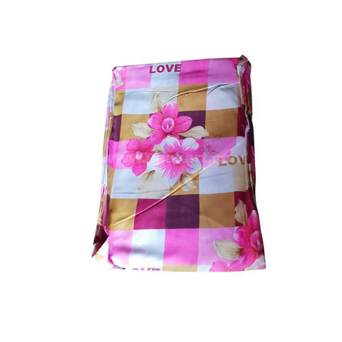 3*6 TWO BedSheetS_Pink Flower