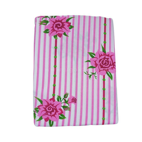 Pink Lining Designed Printed Bedsheet Set of 2 with 2 Pillow Cover (6x6)