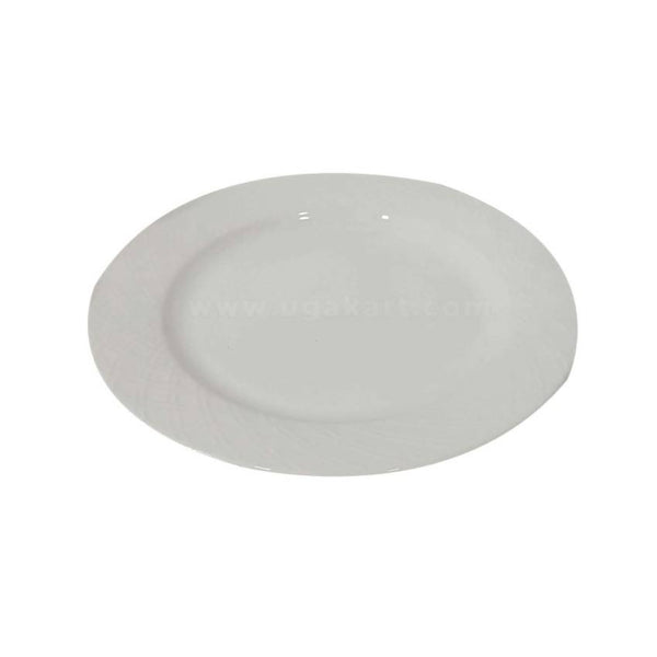 Ceramic Dinner Plate White 12Pcs