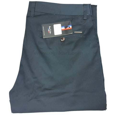 Dark Cerulean Color Trouser  For Men
