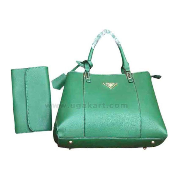 Pure Green Womens Hand Bag Set of Two