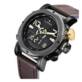 Naviforce Dual Leather Strapped Men's Watch