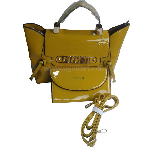 Moschino Yellow Hand Bag Set of 2