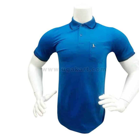 Blue Polo Tshirt For Mens