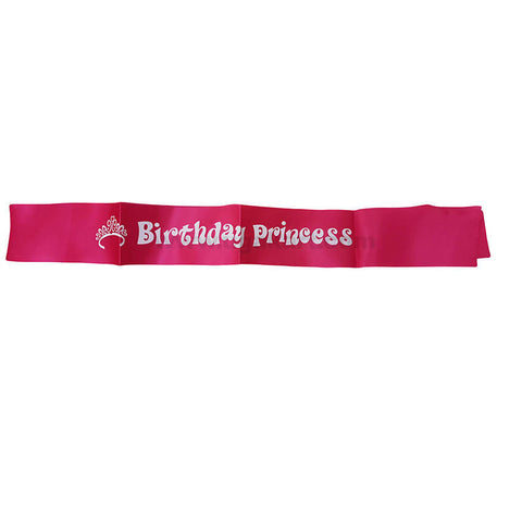Birthday Princess Cross Ribbon (Sashes)