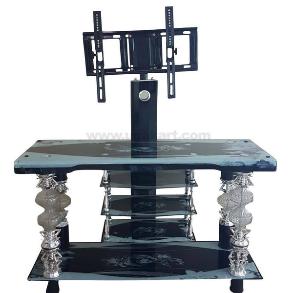 Blue and Black Floral Desing TV Stand_up to 40''