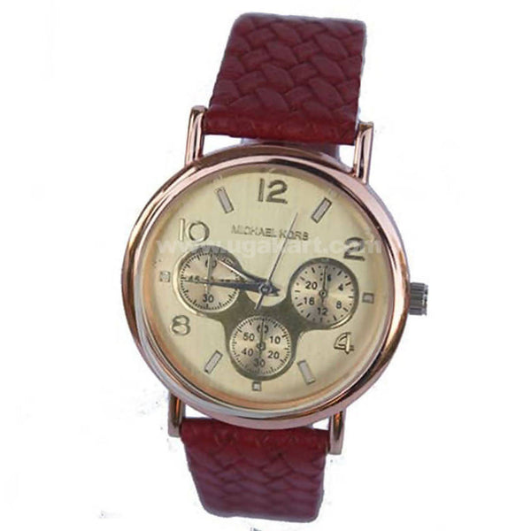 Ladies Analog Watch With Brown Strap