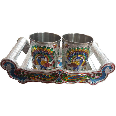 Gift Set 2pcs Glass With 1pcs Tray