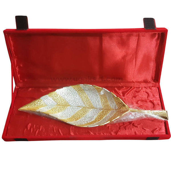 Gift Box With Leaf Desgin Bowl