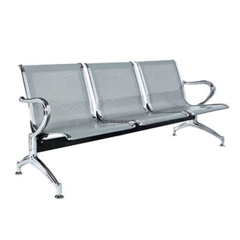 Office Visitor's Waiting 3Seater Chairs-Silver