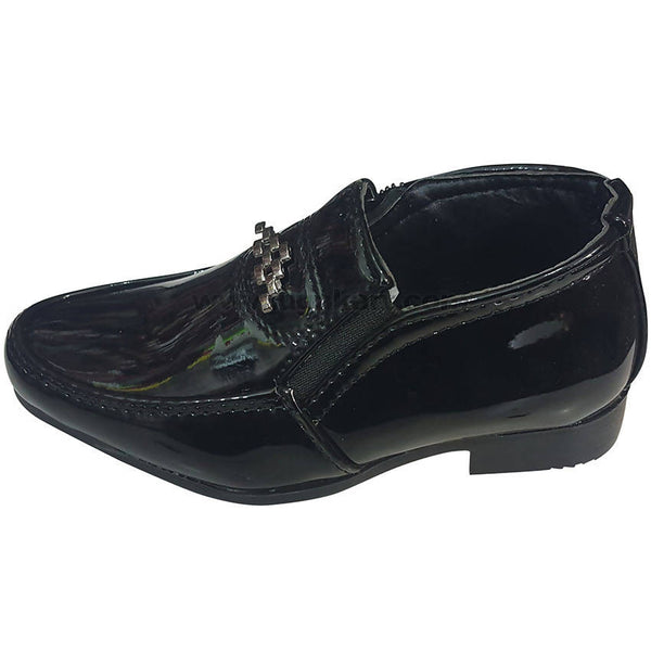 Super Shine Black Party Shoes for Boys (Size-25 to 34)