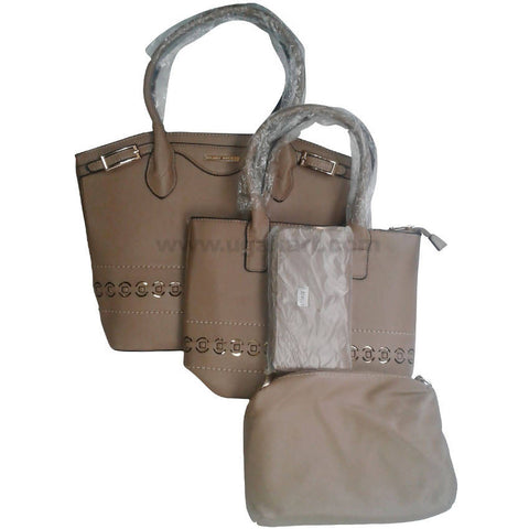Dark Khaki 4Pcs Hand Bag