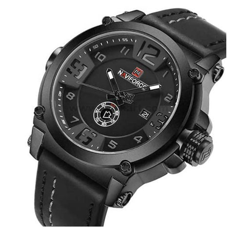 NaviForce Analog Black Watch With Date