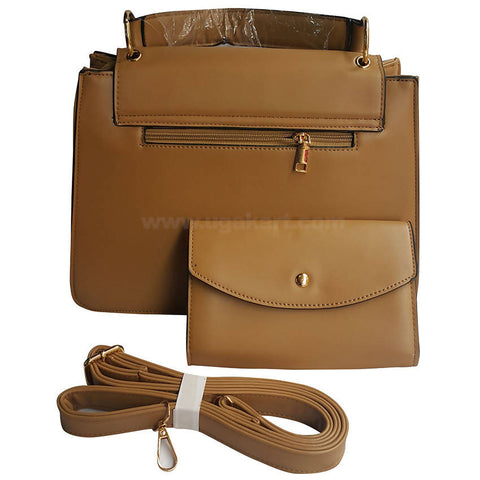 Russet Brown Hand Bag Set Of 2