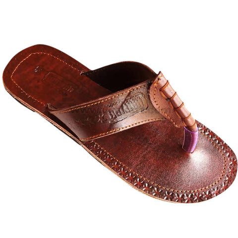 Maliba Men's Brown Leather Sandal