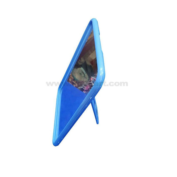 Plastic Frame Mirror With Stand-Blue_Pink_Red