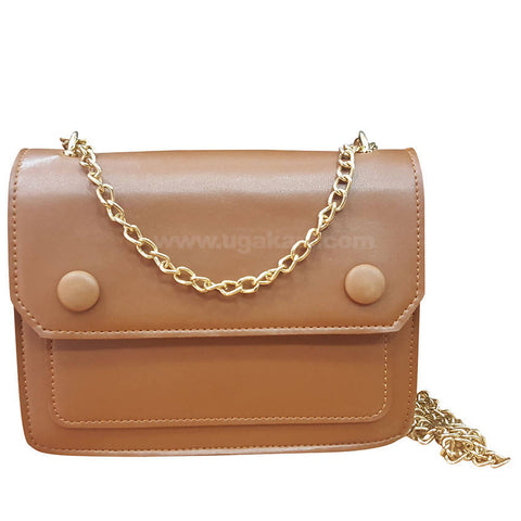 Brown Womes Wallet with Golden Chain