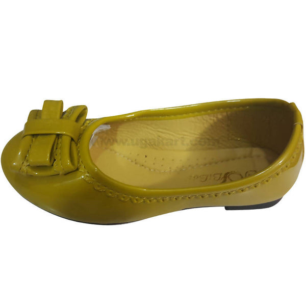 Corn Yellow Toddler children-Baby Girls shoes(Size-26 to 30)