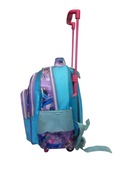 Light Blue School Bag With Trolley For Kids